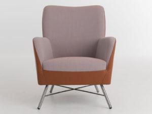 Bolero fauteuil met RVS poot