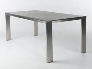 Tafel edge met houten blad