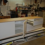tv meubel hoogglans met hout