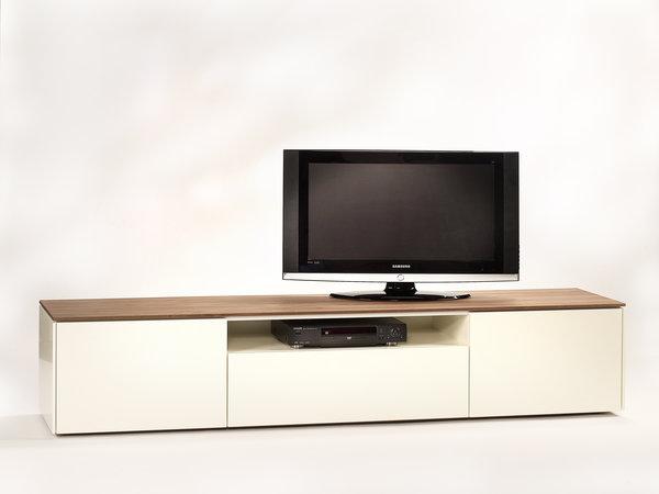 Tv Meubel Hoogglans Wit Met Houten Blad.Kees Verhouden Meubelen Connect Tv Meubel Op Maat