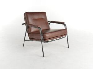 fauteuil Tibbe in bruin leder van bert plantagie
